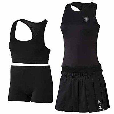 58a9423e831 Adidas French Open RG Womens 3 Piece Tennis Dress Fitness Activewear S27372  R2D