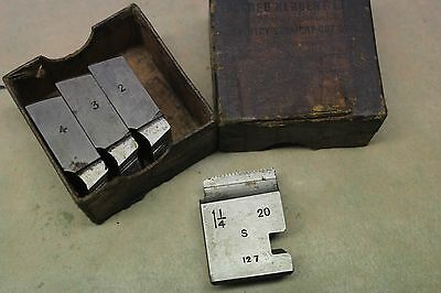 "Alfred Herbert 1 1/4"" x 20 Tpi Whitworth Form Coventry Die Chasers CD398"