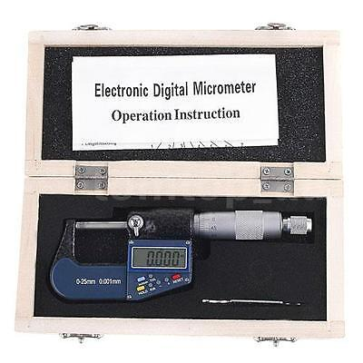 "0-25mm/0.001mm 0-1""/0.00005"" LCD Electronic External Outside Digital Micrometer"