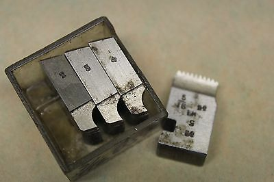 "Alfred Herbert 5/16"" x 22 Tpi BSF Left Hand Coventry Die Chasers For 1/2"" Head"