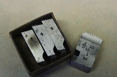 "Alfred Herbert 3/8"" x 20 Tpi BSF Left Hand Coventry Die Chasers For 1/2"" Head"