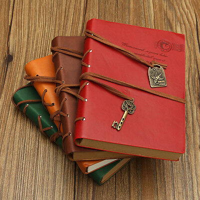 Vintage Classic Retro Leather Journal Travel Notebook Blank Diary Sketchbook AU