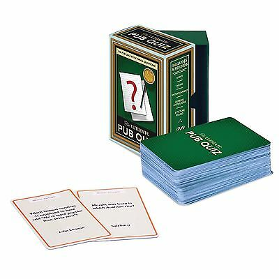 Ultimate Pub Quiz Cards Questions Trivia Party Games Novelty Fun Family