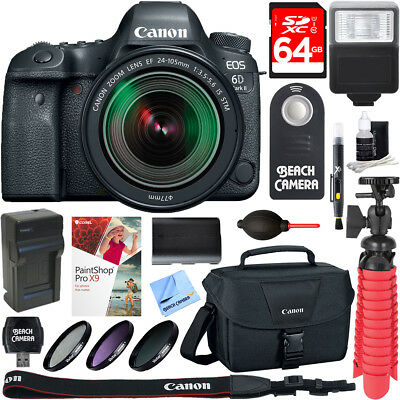 Canon EOS 6D Mark II DSLR Camera + EF 24-105mm IS STM Lens & 64GB Accessory Kit