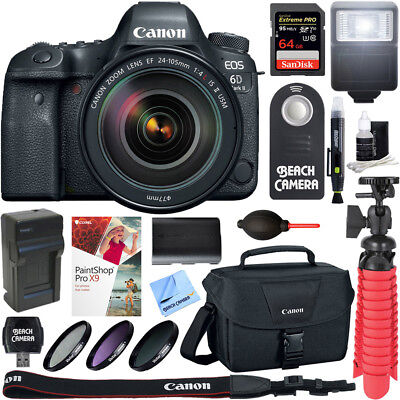 Canon EOS 6D Mark II DSLR Camera + 24-105mm IS II USM Lens & 64GB Accessory Kit