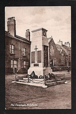 Holyhead - The Cenotaph - printed postcard
