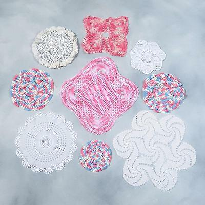 Lot Of 9 Crocheted Doilies - Lot#12