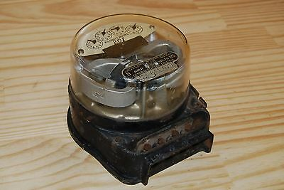 Vintage Antique GENERAL ELECTRIC WATTHOUR METER Glass Cover Single-Phase