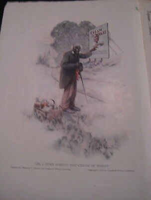 Vtg 1913 CREAM of WHEAT AD RASTUS & Old Negro Black Hobo AD from Brewer Painting