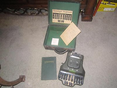 Vintage Stenotype Machine La Salle Extension University With Case And Book