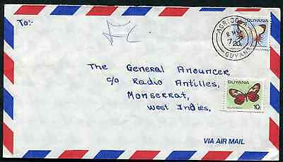 GUYANA (13681): Butterflies/AGRICOLA cancel/cover