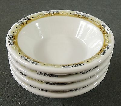 4 Shenango China Restaurant Ware Berry Sauce Bowls Monkey Dish Anchor Hocking
