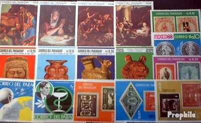 Paraguay 100 different stamps