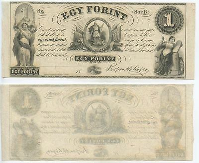 GB568 - Banknote Ungarn Egy Forint 1852 (Serie B) Pick#54b Bankfrisch Hungary