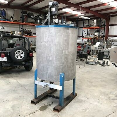 300 Gallon stainless steel tank Mixing Tank , Open Top with top mounted mixer