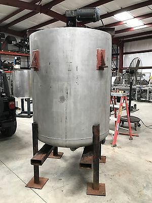 400 Gallon stainless steel tank Mixing Tank , Open Top with top mounted mixer EX
