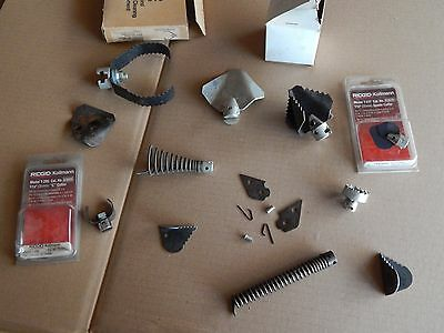 Ridgid drain and pipe cleaning ends, spade, saw & shark tooth, auger spear tool
