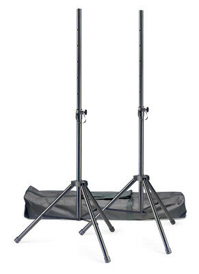 Stagg SPSQ10 Set Pair of Steel Speaker Stands with Bag (NEW)
