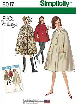 Simplicity SEWING PATTERN 8017 Misses Retro 1960s Capes & Headscarf