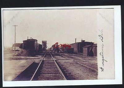 Real Photo Georgetown Delaware Railroad Depot Train Station Postcard Copy