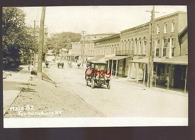 Real Photo Trumansburg New York Downtown Street Scene Postcard Copy