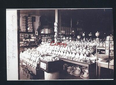 Real Photo Canton Kansas China Department Store Interior Postcard Copy
