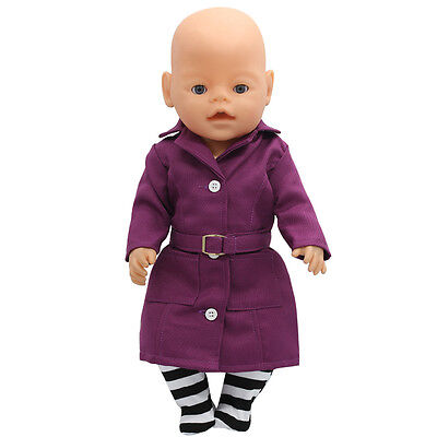 1set Doll Clothes Wear For 43cm Baby Born zapf (only sell clothes ) MG-121