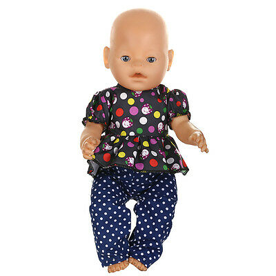 1set Doll Clothes Wearfor 43cm Baby Born zapf (only sell clothes ) MG-537
