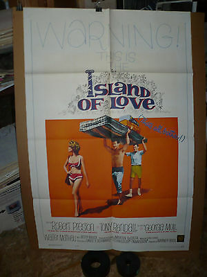 ISLAND OF LOVE, orig 1-sh / movie poster (Robert Preston, Tony Randall)  1963