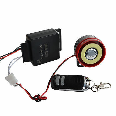 1pc One-way Remote Control Safety Motorcycle Anti-theft Vibration Alarm 12V