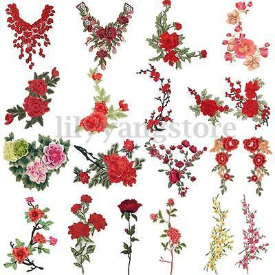 24 Style Embroidery Flower Sew On Patch Badge Bag Hat Jeans Dress Applique Craft