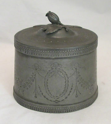 An Good 19th Century Pewter Tea Caddy - Engraved