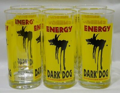 DARK DOG ENERGY 6 Verres tube 25 cl avec trait de dose NEUF