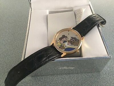 VINTAGE DISNEY Beauty And The Beast Watch / WITH BOX