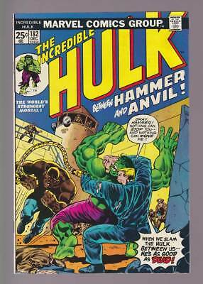 Hulk # 182  Between Hammer and Anvil  3rd Wolverine !  grade 6.5 scarce book !
