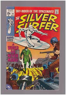 Silver Surfer # 10  A World he Never Made !  grade 8.0 scarce book !