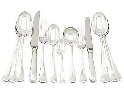 Vintage Sterling Silver 90 piece Canteen of Cutlery for Twelve Persons