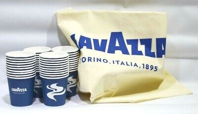 LAVAZZA CAFE 40 gobelets carton + 1 sac shopping NEUF