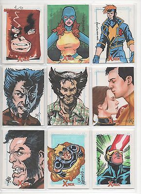 Rittenhouse X Men Archives Sketch Card Dos Santos- Auction Is For Single Card