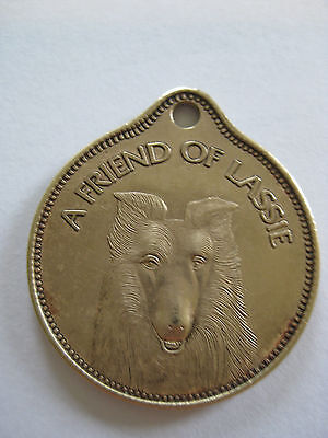 Vintage ~ A Friend of Lassie Dog Tag FOB *RARE*