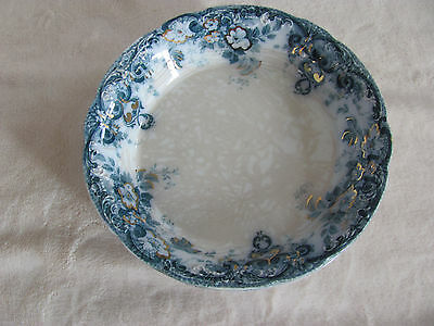 Alfred Meakin-Richmond Blue-Flowers,Scrolls,Gold Accents- Soup Bowl(s) 6 Avail