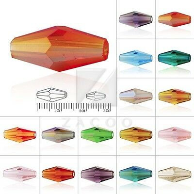 50pcs/72pcs Crystal Beads Spacer Double Cone Jewelry Making Craft 8mm/12mm OB