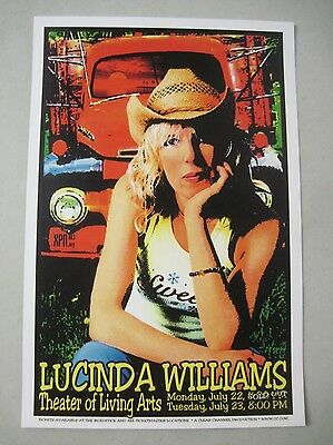 Lucinda Williams Concert Tour Poster 2002 Theater Of Living Arts