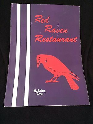 VINTAGE RED RAVEN HOLIDAY INN PITTSBURGH PA 1970'S  RESTAURANT FOOD  Menu PAPER