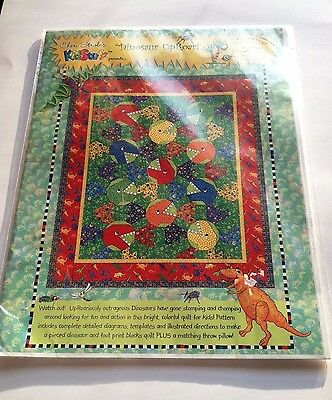 Cheri Stroles Dinosaur Up Roar Kids Quilt and Throw Pillow Easy To Make
