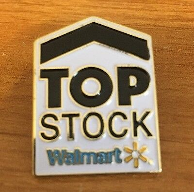 Rare Walmart Lapel Pin Top Stock Program    Wal-mart Pinback