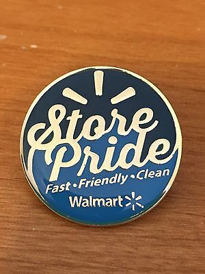 Rare Walmart Lapel Pin Store Pride Clean Fast Friendly Pinback