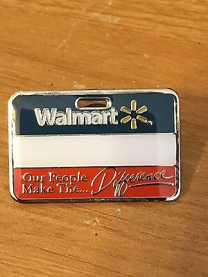 Rare Walmart Lapel Pin Associate Name Badge Wal-mart Pinback