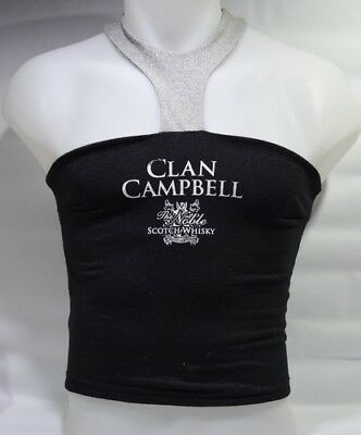 CLAN CAMPBELL WHISKY Tenue barmaid brassière jupe short ceinture NEUF