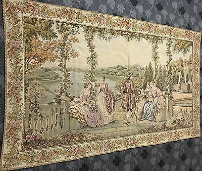 """A SUPERB huge Antique French Wall Hanging Tapestry 46"""" By 78"""""""